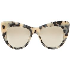 Stella McCartney Mirror Oversized Cateye (£190) ❤ liked on Polyvore featuring accessories, eyewear, sunglasses, glasses, occhiali, oversized cat eye sunglasses, mirrored lens sunglasses, oversized cateye sunglasses, acetate glasses and oversized glasses