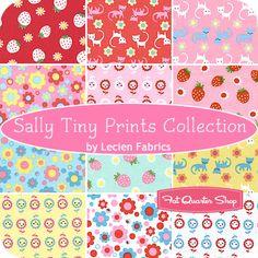Sally Tiny Prints Collection Fat Quarter Bundle Lecien Fabrics