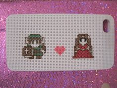 Cross Stitch Zelda and Link iPhone 4 Case by handstitchedbyaylin, $40.00