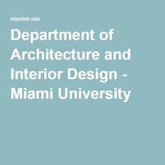 Department Of Architecture And Interior Design