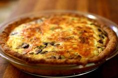 Mushroom Pie on Simply Recipes. I am going to add broccoli, this sounds yummy! Simply Recipes, Greek Recipes, Pie Recipes, Cooking Recipes, Quick Recipes, Mushroom Pie, Mushroom Recipes, Good Food, Yummy Food