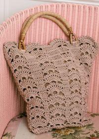 Leafy crochet bag Free Pattern