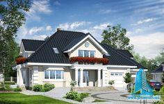 Dom w wiciokrzewie 2 Home Design Plans, Plan Design, Architect House, River House, Modern House Plans, Design Case, Model Homes, Home Fashion, Exterior Design
