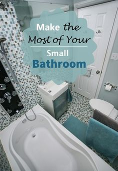 Smaller bathrooms can seem poky and difficult to manage unless you learn a few tricks to maximise your space and to ensure that you have enough space to store all of your bathing necessities. Bathroom Wall Decor, Budget Bathroom, Bathroom Layout, Bathroom Ideas, Big Bathrooms, Beautiful Bathrooms, Best Bathroom Colors, Small Showers, Wet Rooms
