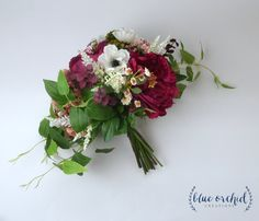 boho wedding bouquet, boho wedding ideas, wedding inspiration, burgundy bouquet, burgundy wedding, marsala wedding, wild bouquet, large wedding bouquet, wedding bouquet, bridal bouquet, hand tied bouquet, garden bouquet, boho bouquet, wedding flowers, silk flower bouquet, burgundy, red, green by blueorchidcreations on Etsy
