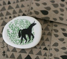 Porcelain Brooch by ArtMind on Etsy.