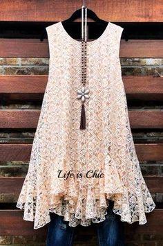 Plus Size Boutique - Plus Size Online Boutique – Page 5 – Life is Chic Boutique Lace Ruffle, Ruffle Dress, Lace Tunic, Plus Size Dresses, Plus Size Outfits, Looks Hippie, Estilo Hippie, Affordable Plus Size Clothing, Plus Size Boutique