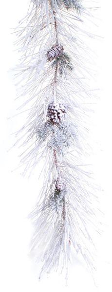 Mixed Pine Garland #snow #winter #white
