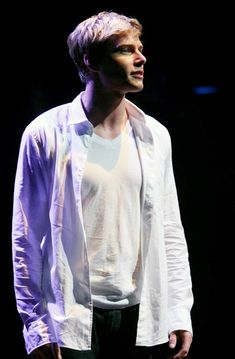 Godspell: Show Photos - Hunter Parrish as Jesus Christ in Godspell on Broadway - Jesus Costume, Hunter Parrish, Uzo Aduba, Green Tea And Honey, Broadway News, Acting Class, Zombie Movies, Movie Characters, Fictional Characters