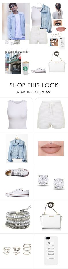 """""""At Starbucks with Louis"""" by tiffany-london-1 ❤ liked on Polyvore featuring Topshop, Gap, Converse, Miadora, Michael Kors, Charlotte Russe and Sole Society"""