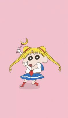 Niana as sailor moon Sinchan Wallpaper, Cartoon Wallpaper Iphone, Cute Girl Wallpaper, Unique Wallpaper, Couple Wallpaper, Naruto Wallpaper, Wallpaper Ideas, Wallpapers Rosa, Animes Wallpapers