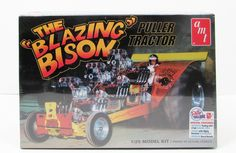 AMT 1006 The Blazing Bison Puller Tractor New Truck Model Kit - Shore Line Hobby