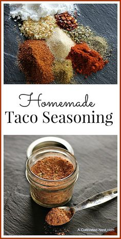 Make your own Homemade Taco Seasoning Mix. It's easy to make and you probably already have the required ingredients on hand. Plus it's healthier than store bought!