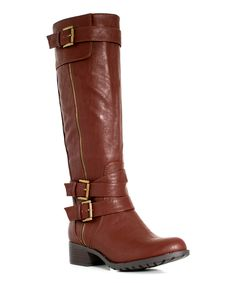 Intaglia British Tan Extra Wide-Shaft New York Boot by Intaglia #zulily #zulilyfinds