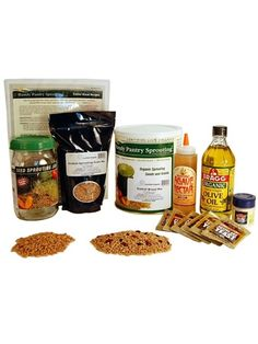 This is a cool kit for making Ezekiel Bread from scratch (Ezekiel 4:9). It is certified organic, and vegan, including organic agave nectar, olive oil and yeast.