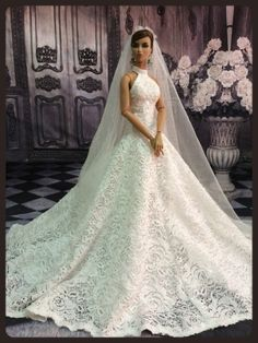 """PKPP-730 Tyler Tonner  FR16 Princess Wedding Lace Gown dress outfit dolls 16"""""""
