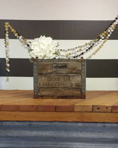 Dairy Crate; Vintage Wood and Metal Crate; Antique Milk Crate; Lockie Lee Crate; Rustic; Farm House; Magnolia Market; Joanna Gaines by LynnMichelleDesign on Etsy