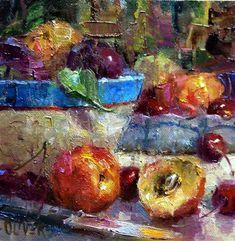 """""""Fruit Bowl"""" - Original Fine Art for Sale - © Julie Ford Oliver"""