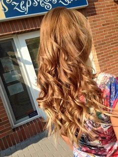 Long light brown hair with caramel and brown highlights
