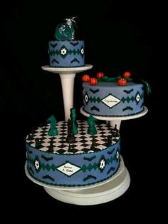 Navajo Wedding Cake.  Delivered to Shinto, AZ. It's Beautiful.... <3