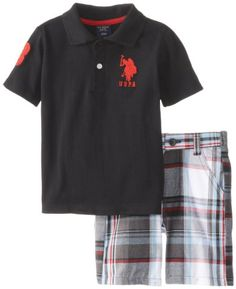 U.S. Polo Assn. Baby-Boys Infant Set Solid Pique and Plaid Short, Black, 24 Months U.S. Polo Assn.,http://www.amazon.com/dp/B00I6A855S/ref=cm_sw_r_pi_dp_Htkltb0CP3S9F3RY