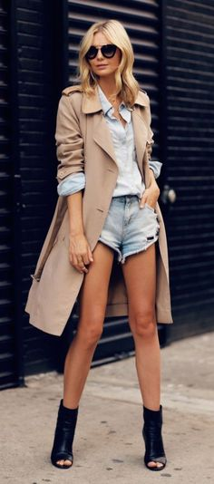 #fall #fashion / beige trench coat