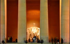 We also saw the Lincoln Memorial.
