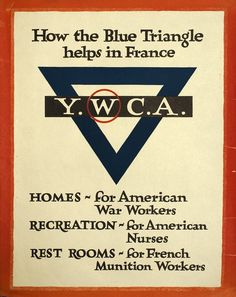 How the Blue Triangle helps in France - YWCA by Artist Unknown | Shop original vintage #posters online: www.internationalposter.com