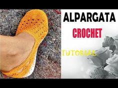 ALPARGATAS TEJIDAS A CROCHET PARA DAMA👢 - YouTube Knit Shoes, Crochet Shoes, Crochet Slippers, Knit Crochet, Flip Flop Sandals, Shoes Sandals, Dress Shoes, Crochet Videos, Huaraches