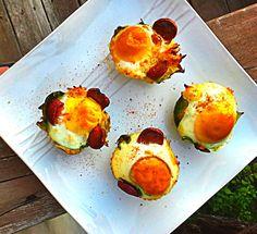 Bok Choy Egg & Bison Bakes