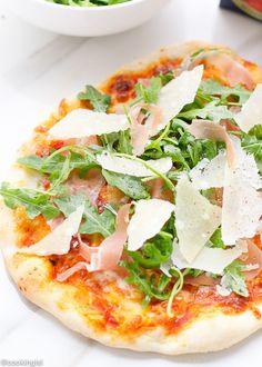 Prosciutto and Arugula Pizza - Itallian Summer Grilling With Colavita