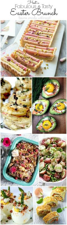 Delicious homemade Easter brunch recipes. Whether you're hosting Brunch or bringing a dish, these are all easy, quick and oh so tasty! Your friends and family will be begging you for the recipes!