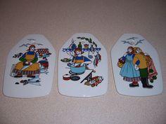 3 VTG NORWAY FISHERMANS WIFE WALL PLAQUES - GERD DESIGN FIGGJO FLINT TORSKEFISKE | Pottery & Glass, Pottery & China, Art Pottery | eBay!