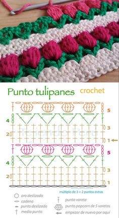 Easy To Make Crochet Tulip Stitch Pattern Flower stitch is one of the most interesting stitch in the crochet world. If you are seeking for a for new stitches, here is the lovely tulip stitch. Crochet Flower Tutorial, Crochet Diy, Crochet Flower Patterns, Afghan Crochet Patterns, Crochet Crafts, Crochet Flowers, Crochet Projects, Stitch Patterns, Knitting Patterns