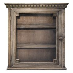 This Architectual wall cabinet is an attractive way to add storage to your bathroom or other small area without taking up valuable floor space. The wooden construction features a glass front for added style. A walnut finish completes the look.