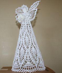 Hand Crochet Christmas/Guardian Angel 14 by mytreasuredheirlooms, $44.95
