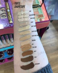 "Tarte ShapeTape Swatches ... (missing light-medium) ✨✨✨✨ 10 Likes, 1 Comments - Ame (@accordingtoame) on Instagram: ""Swatched the whole selection of @tartecosmetics Shape Tape. Somehow missing Light-Medium....…"""
