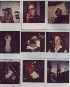 ✖✖✖ Bill Muray & Hunter S. Thompson, Where the Buffalo Roam / backstage polaroids ✖✖✖