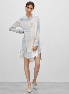 WILFRED BOSSUT DRESS - <p>An Aritzia exclusive featuring a custom print by artist, Jessica Bell</p>