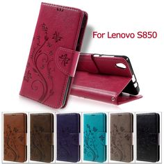 For Lenovo S 850 Phone Bag Floral Butterfly PU Leather Wallet Stand Cover for Lenovo S850 Case #clothing,#shoes,#jewelry,#women,#men,#hats,#watches,#belts,#fashion,#style