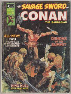 Espada salvaje de Conan; Vol 1, 3, libro de historietas de la edad del bronce. VG-. Diciembre de 1974.     Arte de tapa es Mike Kaluta.