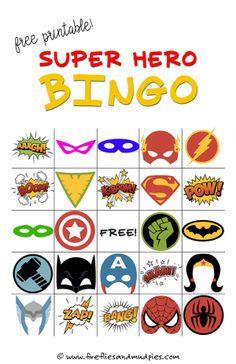 Free Printable Superhero Bingo Game—perfect for birthday parties! | Fireflies and Mud Pies