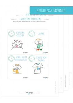 carte routine a imprimer