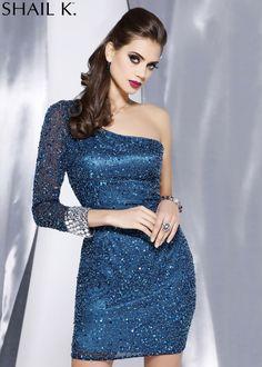 Shail K. 3157 Sequin Cocktail Dress