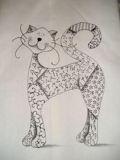 molde de gato lindo! da net... by ALEPE ATELIÊ, via Flickr