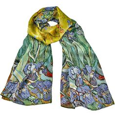 Van Gogh Irises Silk Scarf makes a great Art Gift!  Free Gift Box included and Free Shipping everyday on all our art gift ideas!