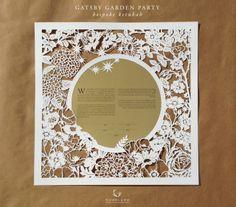 Woodland Papercuts: bespoke order | Gatsby Garden ketubah