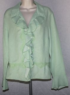 Emma James Liz Claiborne 14 Ruffle Lace Romantic Sage Chiffon Top Blouse   ‪#‎emmajames‬ ‪#‎lizclaiborne‬ ‪#‎ruffle‬ ‪#‎romantic‬ ‪#‎lace‬ ‪#‎sage‬ ‪#‎chiffon‬ ‪#‎top‬ ‪#‎blouse‬ ‪#‎nightout‬ ‪#‎career‬ ‪#‎ladyboss‬