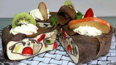 Кожаный Блинный Торт Мусс с фруктами за 1 час Как приготовить Муссовый Т...
