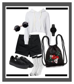 """""""Untitled #96"""" by faizuradidja on Polyvore featuring Monrow, Puma, Monki and CLUSE"""